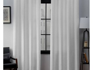 Set of 2  84 x52  loha linen Grommet Top light Filtering Curtain Panel Winter   Exclusive Home