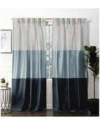 Pair of Flen Faux Silk Striped Room Darkening Pinch Pleat 96 in