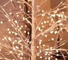 Indoor  Outdoor 3 foot Birch Tree with Remote and Twinkle Brown