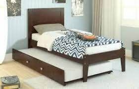 Solid Wood Trundle Bed Only  Espresso