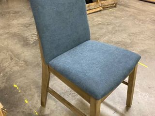Single Blue  Wood Dining Chair
