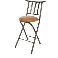 Mainstays Slat Back Folding Barstool  Bronze  35