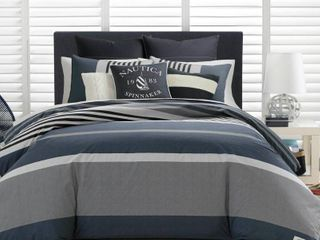 Nautica Rendon Comforter Set  Grey   King Retail 206 99