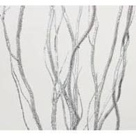 Bethlehem lights 48in Oversized lit Glitter Branch  Silver