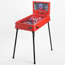 Standing or Tabletop Electronic Pinball Game w  lights   Sounds Race