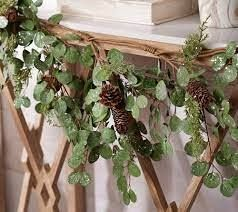 4ft Frosted Eucalyptus and Cedar Garland by Valerie