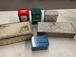 6 Decorative and Collectible Tins