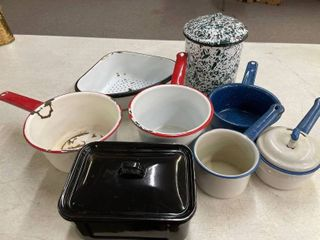7 pcs  of Enamelware