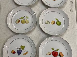 Set of 6 Fruit Fromage Plates by Nancy Green for Crate   Barrel