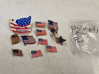 Patriotic and flag lapel pins