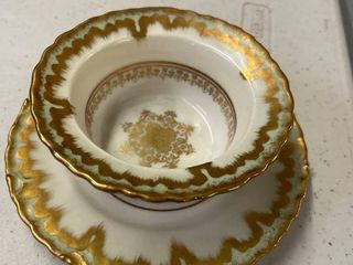 Antique 1880 s Custard Cup Elite Works limoge France for Higgins  amp  Seiter