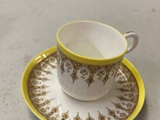 1887 Royal Worcester Cup  amp  Saucer Demitasse Set Pattern Wil63