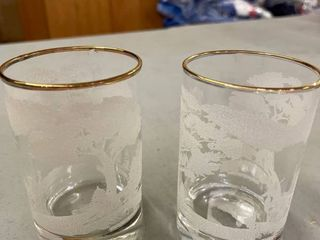 Pair of embossed deer glasses