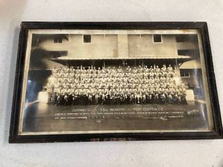 1932 Photo Company G 33rd Infantry Fort Clayton Canal Zone
