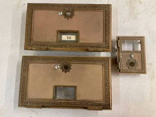 3 Solid Brass Post Office Box Doors