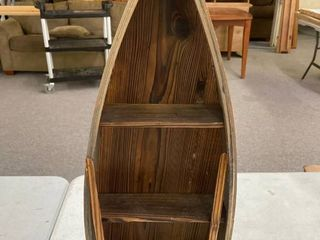 Wooden Rowboat Knick Knack Shelf