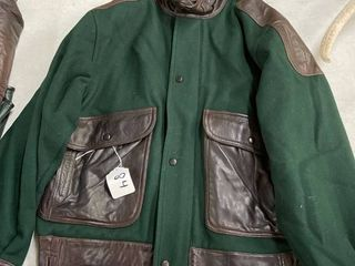 Men s Authentic leather and Felt Jacket Size 38