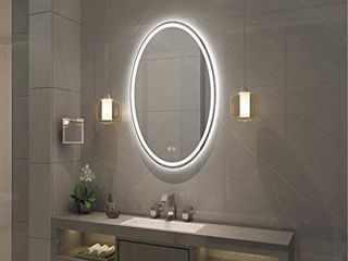 Frameless Wall Mounted lED Bathroom Mirror   Colorless  Retail 237 99