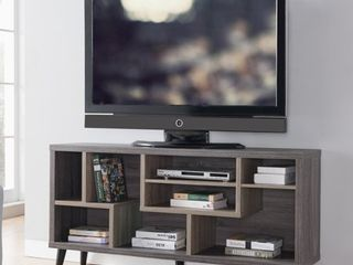Furniture of America Kone Mid century Modern 60 inch Grey TV Stand  Retail 355 49