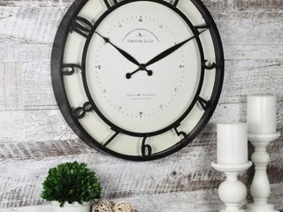 FirsTime   Co  Kensington Wall Clock  Plastic  18 x 2 x 18 in  American Designed   18 x 2 x 18 in