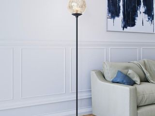 Silver Orchid Forster Mercury Glass Floor lamp  Retail 88 49