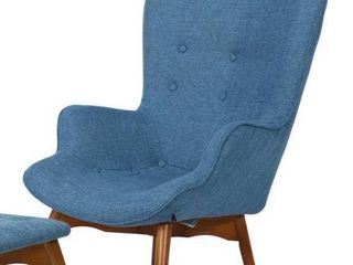 Hariata Mid Century Modern Wingback Fabric Chair by Christopher Knight Home  Retail 388 98