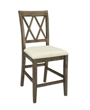 ACME Claudia Side Chair  Beige linen   Salvage Brown  Set of 2