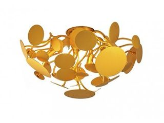 Gold leaf Petal Flush Mount with Branch Arms  Retail 475 49