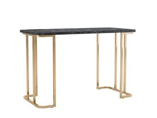 Furniture of America Woren Contemporary Faux Marble Top Writing Desk  Retail 397 99