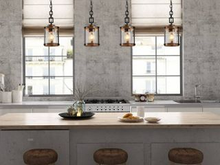 The Gray Barn Horse Hollow Rustic 1 light Hanging Foyer Pendant lighting Fixture   W 6 x H 7 5