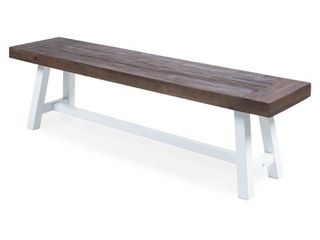 Carlisle Outdoor Rustic Acacia Wood Bench by Christopher Knight Home  Retail 163 79