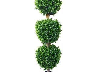 5  Tall Faux Potted Topiary Plant  Artificial Hedyotis Indoor Outdoor by Pure Garden