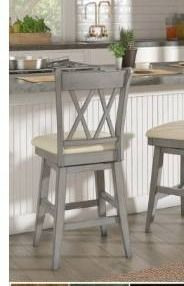 Eleanor Double X Back Wood Swivel Bar Stool by iNSPIRE Q Classic