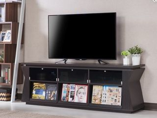 Furniture of America Rosh Contemporary 71 inch Espresso Wood TV Stand  Retail 346 88