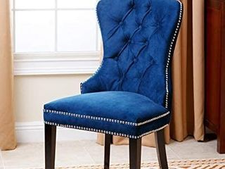 Abbyson Versailles Blue Tufted Dining Chair  Retail 499 99