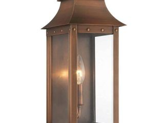 Manchester 1 light Copper Patina Outdoor Wall Mount  Retail 270 00