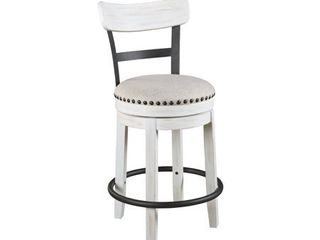 Valebeck White Counter Height Swivel Stool  Retail 146 99