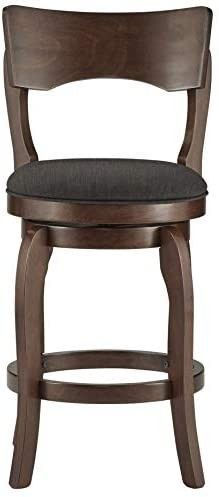 Traditional Brown Swivel 24 In  Counter Height Bar Stool  Retail 106 49