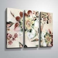 ArtWall  Summer Flower  3 Piece Gallery Wrapped Canvas Set  Retail 95 49