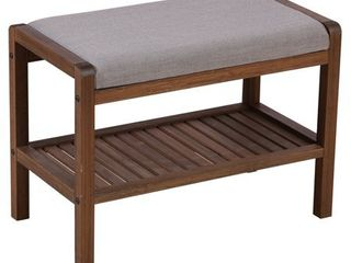 Solid Bamboo Padded Bench  Retail 91 99