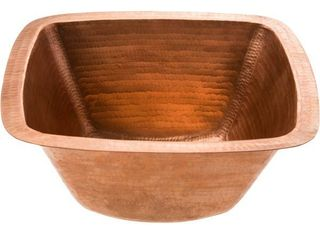 Handmade Polished Copper Prep Sink  Mexico  Retail 157 49