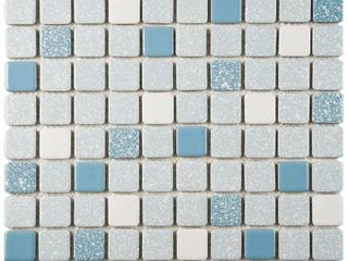SomerTile 11 75x11 75 inch Scholar Square Blue Porcelain Mosaic Floor and Wall Tile  10 tiles 9 79 sqft  Retail 94 99
