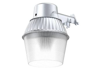 Commercial Electric High Performance 200 Watt Equivalent  3300 lumens lED Gray Dusk to Dawn Outdoor Area light and Flood light
