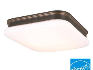 Hampton Bay Ceiling Mounted lighting 11 in  Oil Rubbed Bronze Square lED Flushmount IMD3011lM ORB