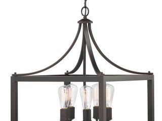 Home Decorators Collection Boswell Quarter 5 light Distressed Black Pendant