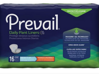 Prevail Pant liner  Extended Use  16 count