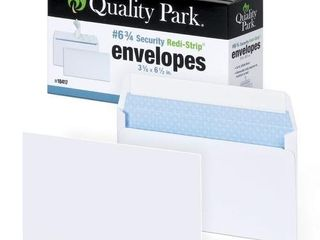 Quality Park  6 3 4 Security Tinted Envelopes with Peel   Seal  100 Pack