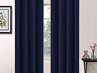 Yakamok Blackout Curtains with Grommet Thermal Insulated Room Darkening Window Drapes for Dedroom
