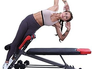 Finer Form Multi Functional Weight Bench for Full All in One Body Workout a Hyper Back Extension  Roman Chair  Adjustable Ab Sit up Bench  Decline Bench  Flat Bench