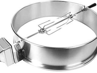 onlyfire Universal Stainless Steel Charcoal Kettle Rotisserie Ring Kit for Weber 2290 and Other Models